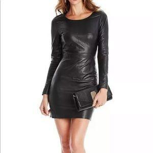 MARCIANO Genuine Lamb Leather Dress, size 0, Black
